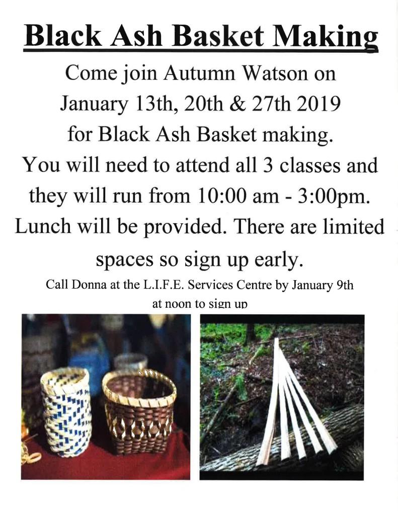 Black Ash Basket Making