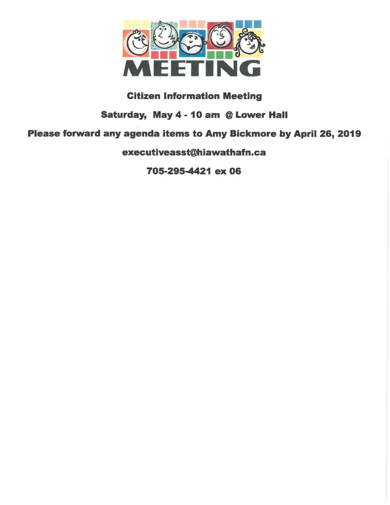 Citizen Info Meeting - May 4