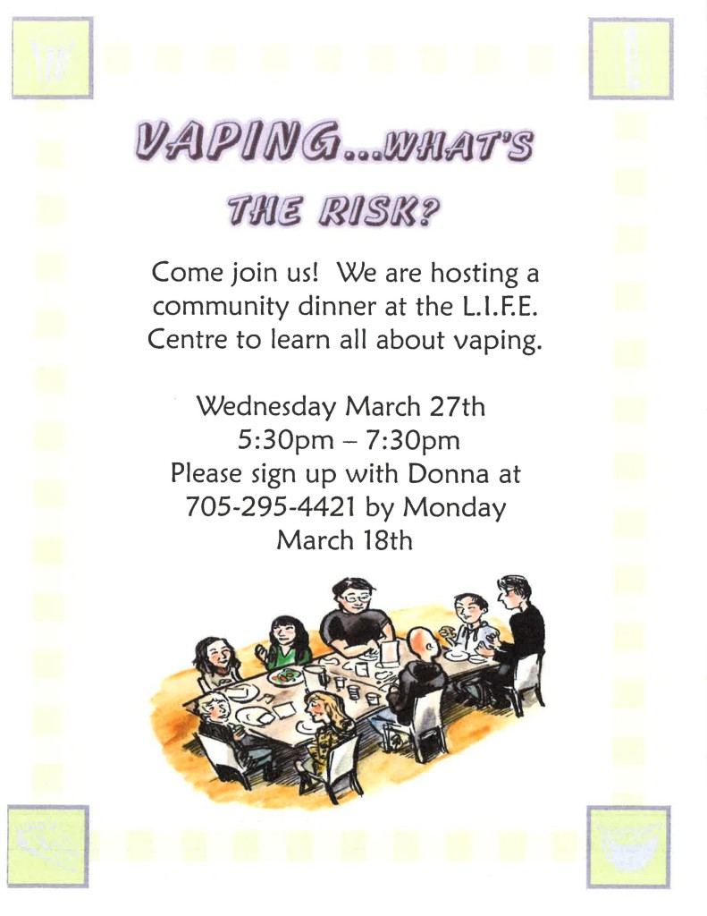 Vaping Presentation & Dinner