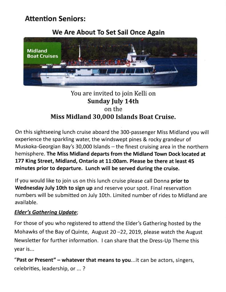Seniors Boat Cruise