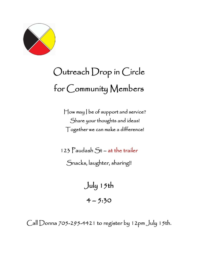 Outreach Drop in Circle July Flyer