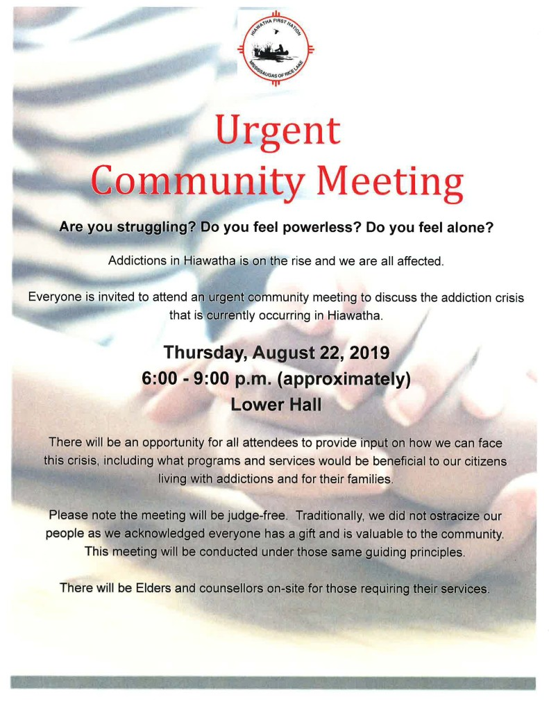 Urgent Community Meeting