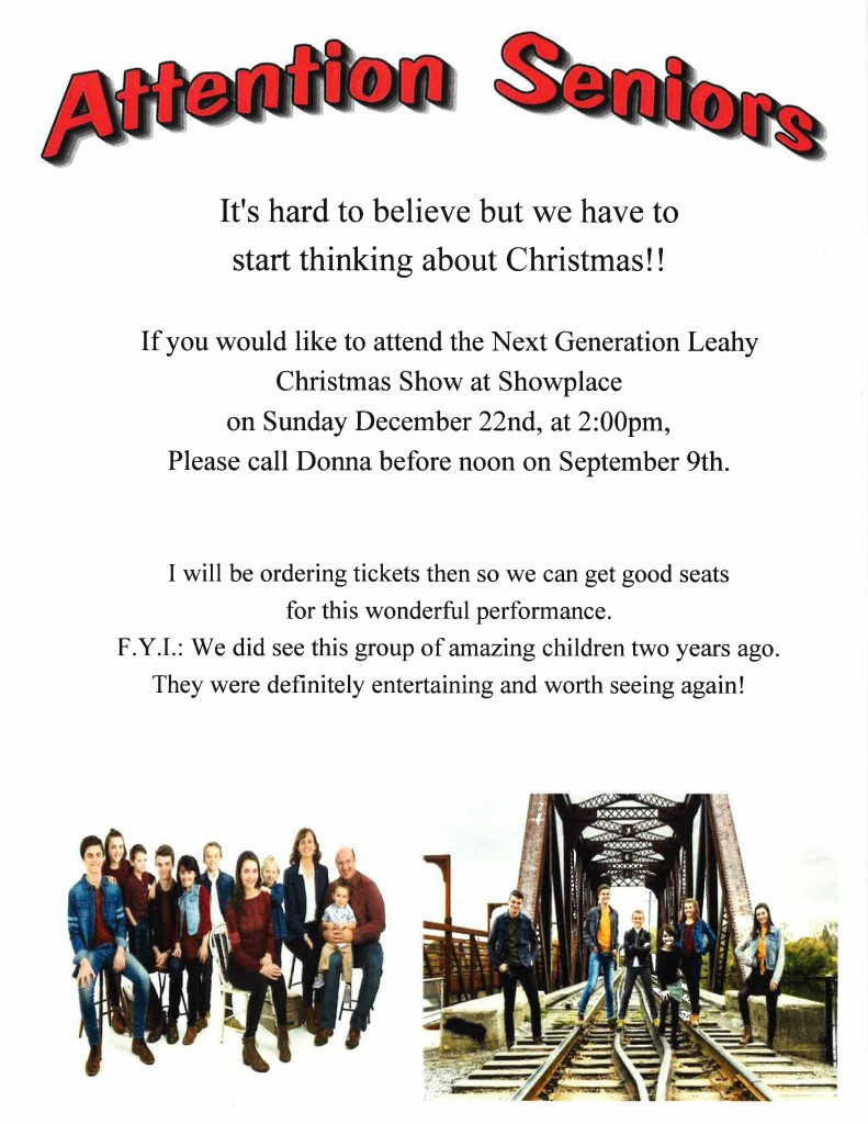 Next Generation Leahy Christmas Show